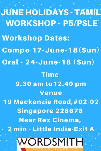 2018 June holiday-Tamil workshop
